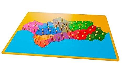 International Montessori Institute - Mapa Puzzle De Andalucía en Madera: Amazon.es: Industria, empresas y ciencia