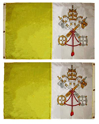 ALBATROS 3 ft x 5 ft Embroidered Sewn Vatican City Double Sided 300D Nylon Flag for Home and Parades, Official Party, All Weather Indoors Outdoors