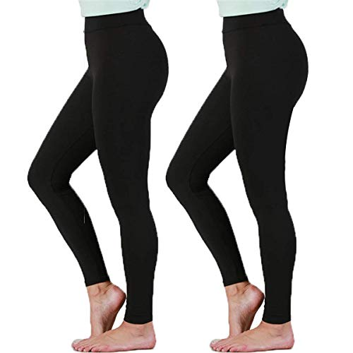 - Gnpolo Womens Black High Waisted Leggings 2 Packs Soft Slim Tummy Control Blouse Yoga Pants