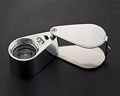 Mini Illuminated Loupe 30X / Magnifier With LED Lights/The Magnifier Comes With 2-LED Illumination For Seeing Clearly In The Dark from ALSROB