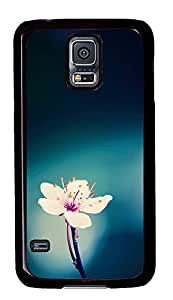 Samsung S5 case amazing Cute Flower Awesome PC Black Custom Samsung Galaxy S5 Case Cover