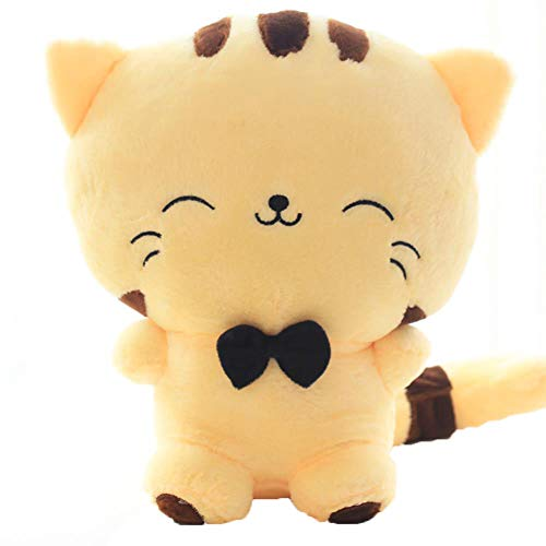 JIDLU Cute Big Face Smile Cat Plush Stuffed Toys Soft Animal Dolls Christmas Birthday Gifts for Kids Girls