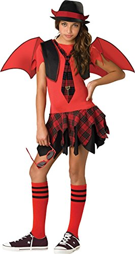 InCharacter Costumes Women's Delinquent Devil, Red/Black, Medium