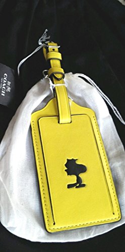 Coach X Peanuts Snoopy Leather Luggage Tag Limited Edition by COACH (Image #1)