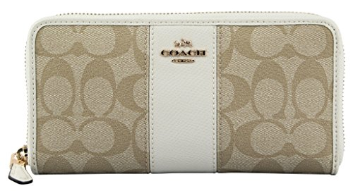Coach Women's Signature PVC Zip Around Wallet, Style F54630