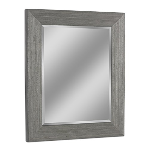 Headwest 8012 Rustic Box Driftwood Wall Mirror in Light -