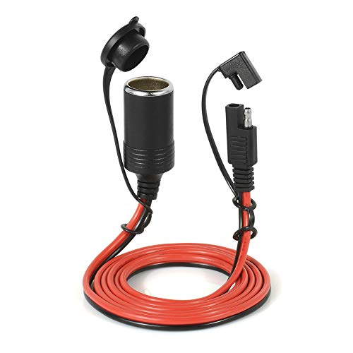 12V Car Chargers Cigarette Lighter Extension Cord Female Socket with Quick Disconnect Wire Harness (Cigarette Lighter)
