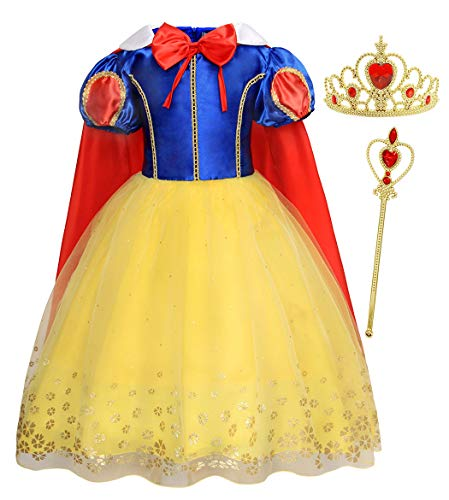Jurebecia Girl Snow White Princess Dress up for