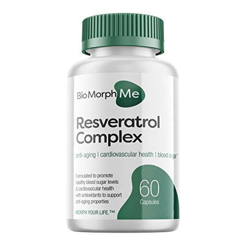 41y9XrIKzEL - Resveratrol Supplement Complex - 600mg Formula with Trans Resveratrol - Promotes Anti-Aging, Cardiovascular Health and Blood Sugar Support - 60 Veggie Capsules
