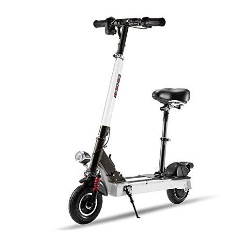 Duan hai rong DHR Electric Scooter Travel Mini Pedal Foldable Small Battery car Adult Go to Work Men and Women 20KM Range Damping Electric Scooter (Color : White)