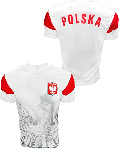 Polska Soccer Jersey Poland Country Polish Eagle National Pride - White