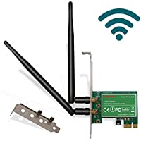 LTERIVER 802.11 N 2.4GHz 300Mbps PCI Express (PCIe) Wireless Adapter-PCIE Wireless Card-PCIe Wi-Fi Card-PCIe Wi-Fi Adapter-Qualcomm Atheros AR9287 Wireless Network Adapter