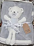 Chick Pea White and Gray Baby Security Blanket 2Pc Set