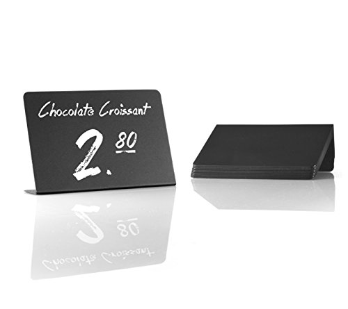 Mini Chalkboard Sign With Stand. 10-pack. Suitable and cl...