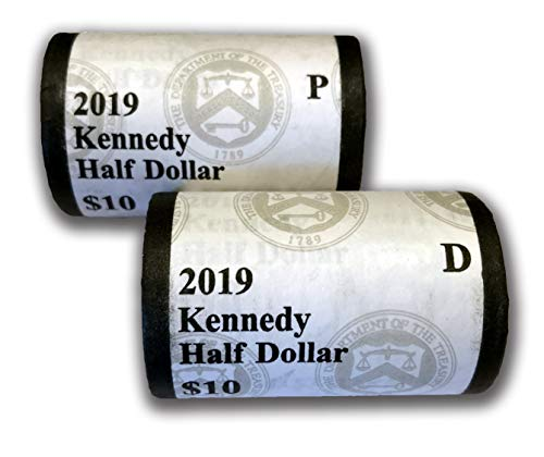 - 2019 P & D Kennedy Half Dollar US Mint Wrapped Rolls Brilliant Uncirculated