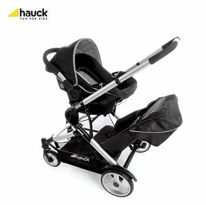 Hauck - Carrito Asiento de Coche para Bebé Dual Tándem 0+ (Negro ...