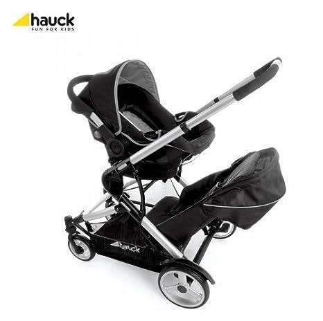 Hauck - Carrito Asiento de Coche para Bebé Dual Tándem 0+ (Negro)
