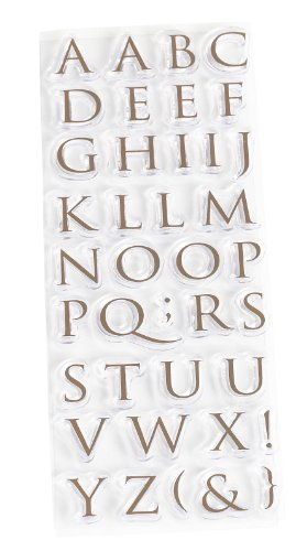 Martha Stewart Crafts Half Trajan Alphabet Clear Stamps