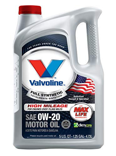2011 Honda Accord Engine Motor - Valvoline  Full Synthetic High Mileage with MaxLife  Technology SAE 0W-20 Motor Oil 5 QT