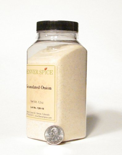 Onion, Granulated and Dried - Large Clear Easy Grip Jar by Denver Spice by Denver Spice
