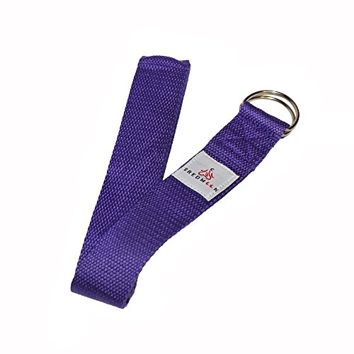 Set of ( 3 ) sredmoon yoga strap 8ft Made With The Best, Durable Cotton Durable for Stretching, Flexibility w/ Adjustable D-Rings