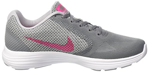 Revolution Pink White Cool Mujer Grey Grey para Nike Zapatillas Deadly Running Wolf 3 Multicolor de TSwqT6PxdB