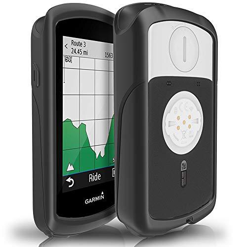 TUSITA Case for Garmin Edge 1030 - Silicone Protective Cover - GPS Bike Computer Accessories (Black)
