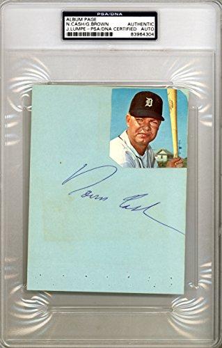 Norm Cash Autographed 4.5x6 Album Page Detroit Tigers PSA/DNA (Detroit Tigers Album)