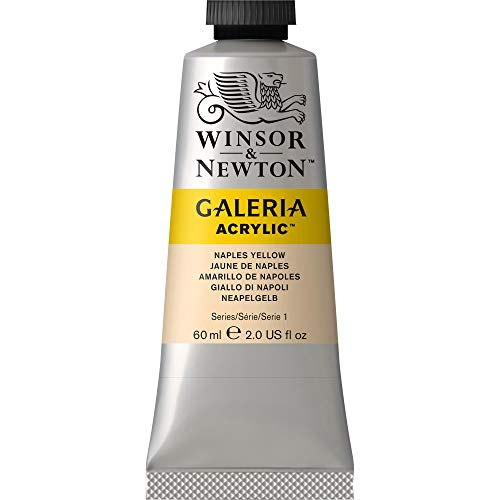Winsor & Newton Galeria Acrylic Paint, 60ml Tube, Naples Yellow