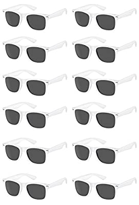 311a656778e TheGag White Wayfarer Sunglasses Party Pack-12 Pure White Premium Quality  Plastic-Wholesale Bulk from