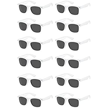 eb6f096978 TheGag White Wayfarer Sunglasses Party Pack-12 Pure White Premium Quality  Plastic-Wholesale Bulk