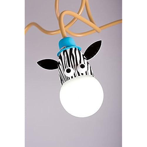 Lampe Les Motif GirafeZèbre Chambre Adorent Suspension Enfants Ok0X8nwP