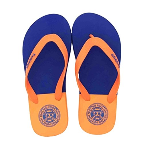 Bromeo One Piece Anime Unisex Flip Flops Chanclas 46