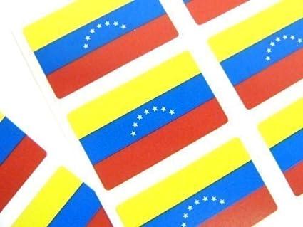 Mini Pegatina Paquete, 33x20mm Rectángulo, autoadhesivo Venezuela Etiquetas, Venezuela Bandera Pegatinas