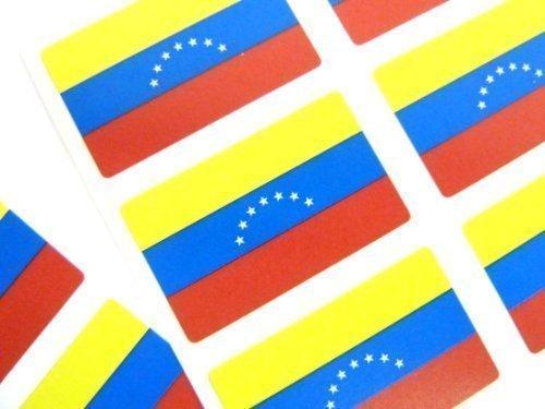 Mini Pegatina Paquete, 33x20mm Rectángulo, autoadhesivo Venezuela Etiquetas, Venezuela Bandera Pegatinas Minilabel