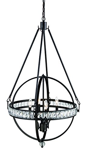 Trans Globe Lighting 70754 ROB Elan Indoor Rubbed Oil Bronze Transitional Pendant, -