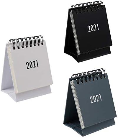 Ktyssp 2020 Mini Desk Calendar Stand Up Flip Calendar Daily Monthly Table Planner Agenda Organizer Office Khaki