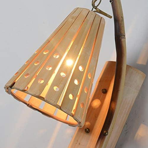 xgfqb Applique,Applique Murale Bambou Arts Asie du sud-est rétro nostalgique Japonais Bambou Bar Pub Ferme personnalité créative ingénierie Lampes
