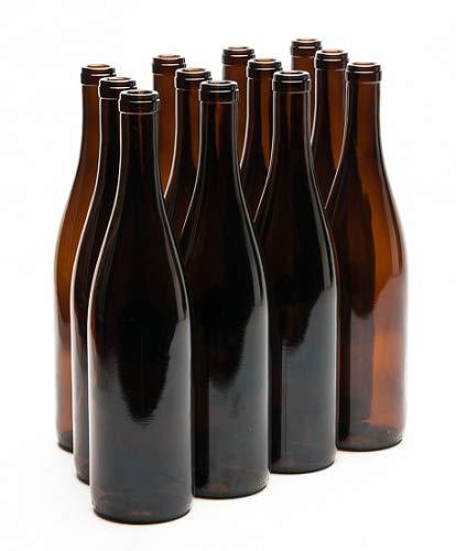 750 ML California Amber Hock Wine Bottles (12/CASE)