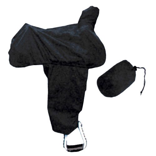 Intrepid International Western Saddle Cover with Fenders, Black