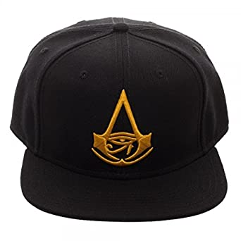 2b14db234c1b1 Image Unavailable. Image not available for. Color  Black Assassins Creed  Origins Cape Eye Logo Snapback