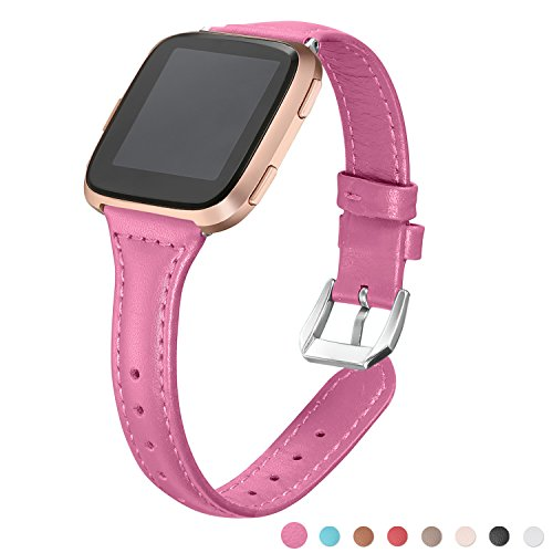 bayite Bands Compatible Fitbit Versa, Hot Pink, 5.3