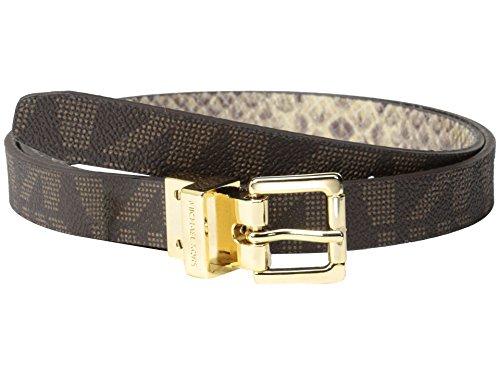 Michael Michael Kors 20mm Rev Snake Belt w/ Logo