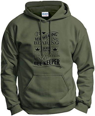 Veil Wearing Sting Bearing Hive Smoking Beekeeper Hoodie Sweatshirt