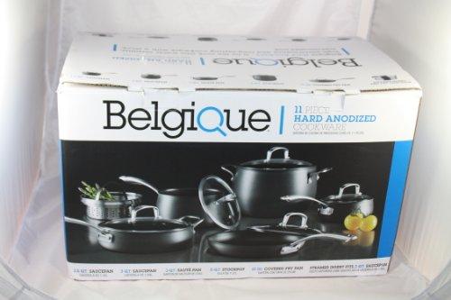 Belgique 11 Piece Hard Adonized Cookware (black)