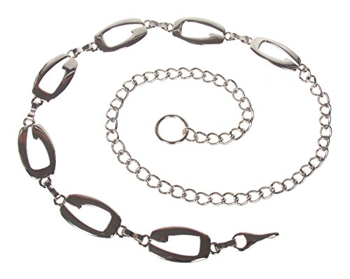 Ladies Fashion Metal Chain Belt Color: Silver Size: O/S - 39 End To End
