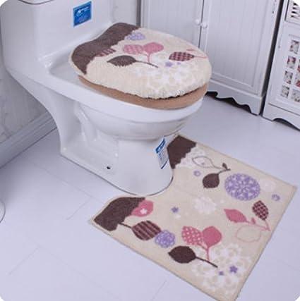 ¿Toalla de microfibra de funda para tapa de inodoro y de alfombras de cuarto de
