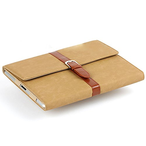 liangdongshop Vintage Style Briefcase Shape PU Leather Protective Case for iPad 2/3/4 with Belt & Built-in Kickstand (Khaki)