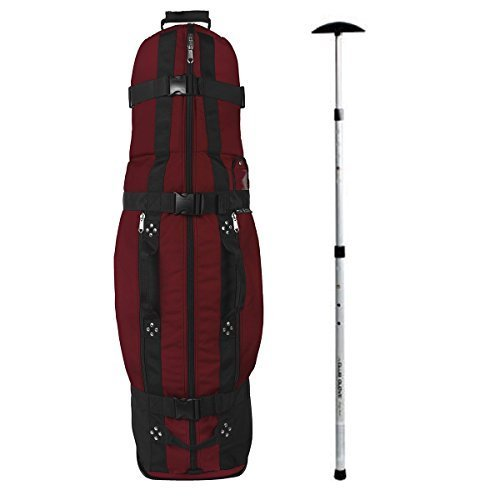Club Glove Last Bag Collegiate Golf Travel Cover w/ Free Stiff Arm (Burgundy)
