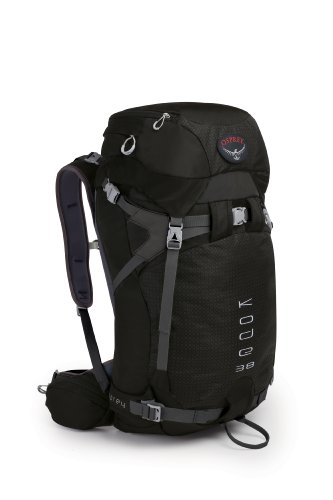 Osprey Kode 38 Pack, Black, Large, Outdoor Stuffs